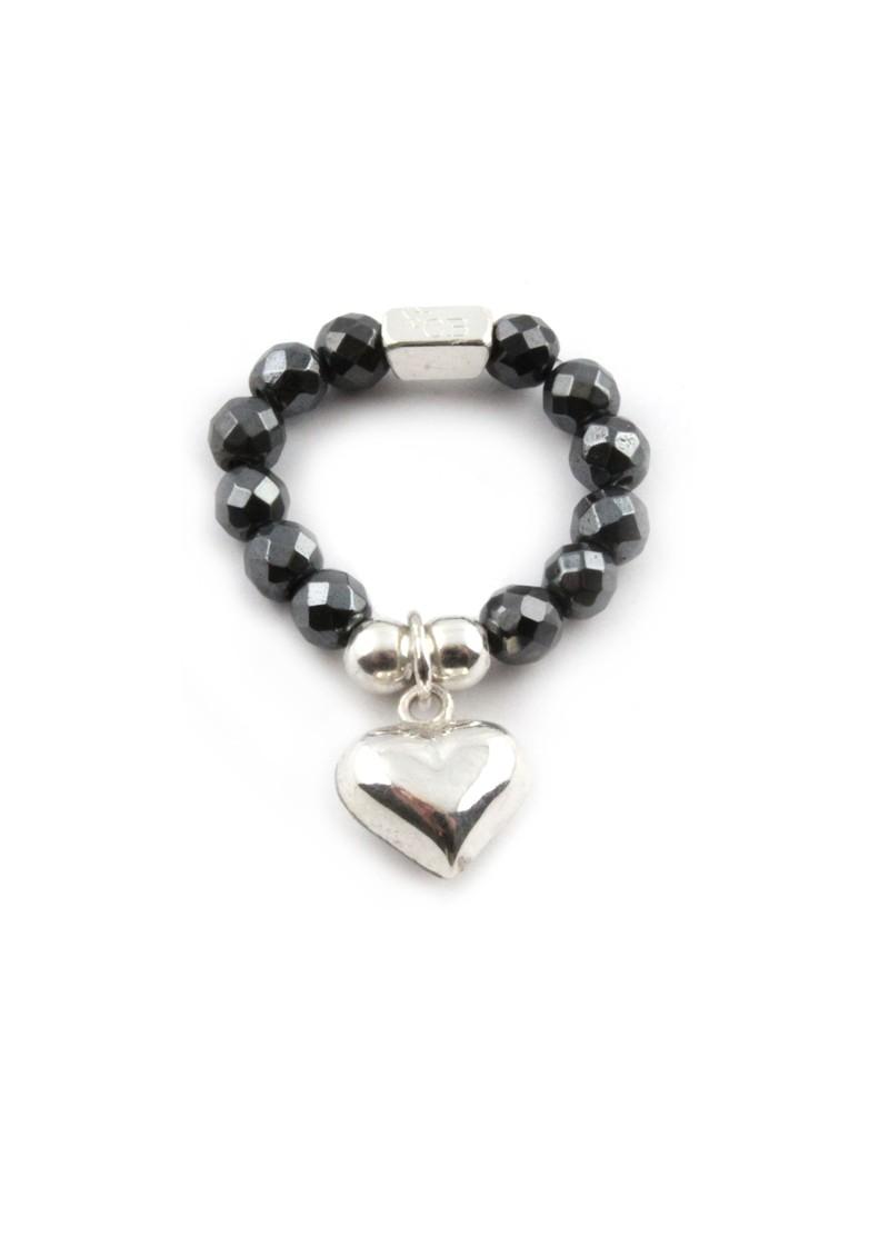 ChloBo Haemitite Ring With Heart Charm main image