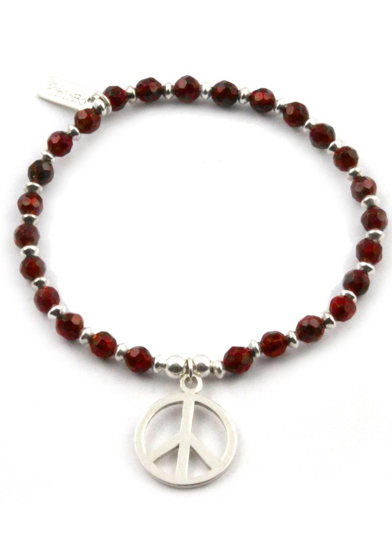 ChloBo Smoulder Bracelet With Small Peace main image