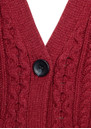 American Vintage Big Sky Country Cable Knit Cardigan - Bordeaux