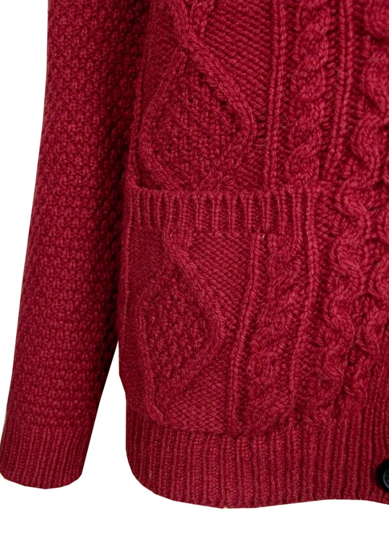 American Vintage Big Sky Country Cable Knit Cardigan - Bordeaux main image
