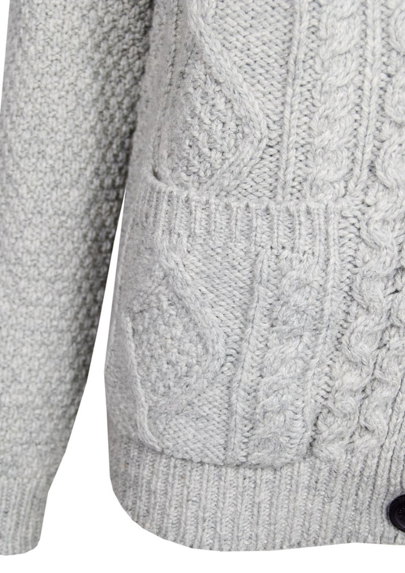 American Vintage Big Sky Country Cable Knit Cardigan - Heather Grey main image