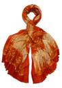 Oversized Wool Mix Python Scarf - Coral additional image