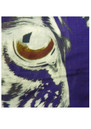 Lily and Lionel Eye of the Tiger Silk Scarf - Purple