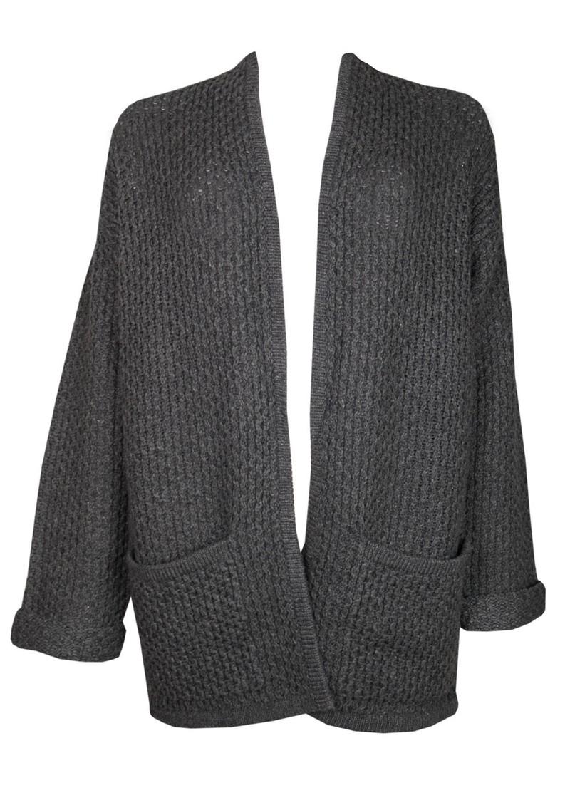 American Vintage Big Sky Country Wool Mix Cardigan - Charcoal Melange main image