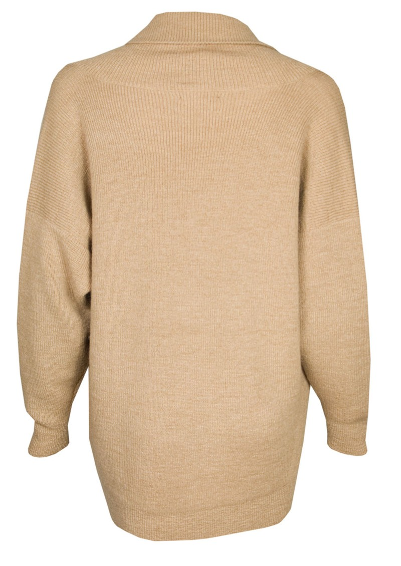 American Vintage Mexico Knitted Jumper - Camel main image