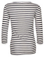 Night Striped 3/4 Sleeve Top - Natural and Black additional image