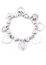 ChloBo Multi Hearts Charm Bracelet
