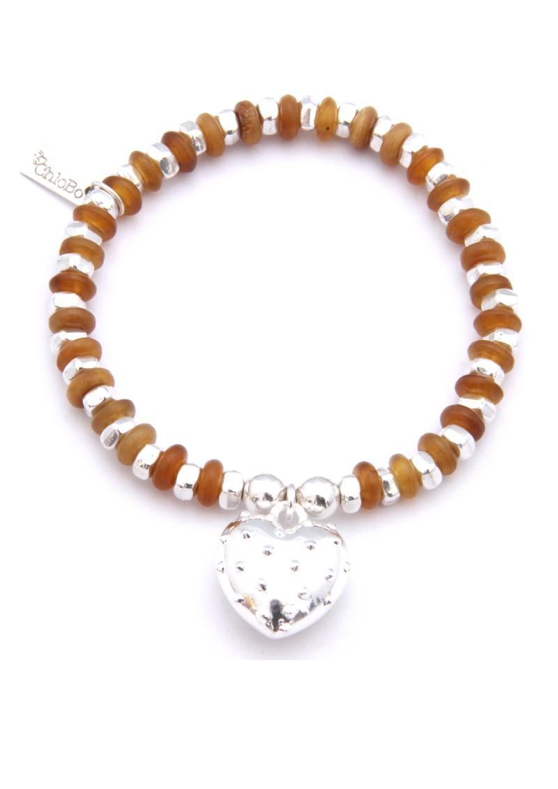 ChloBo Juju Horn Rondelle & Disc Bracelet with Heart Charm main image
