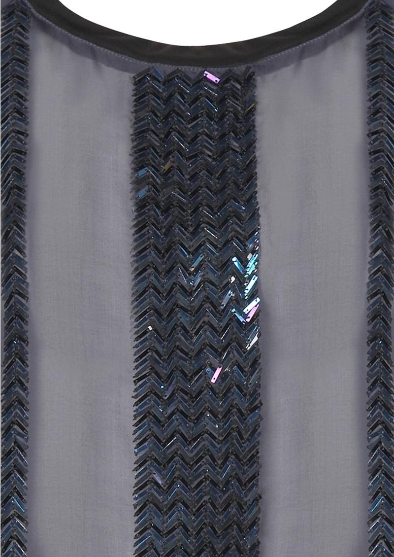 Antik Batik Mael Silk Top - Navy main image