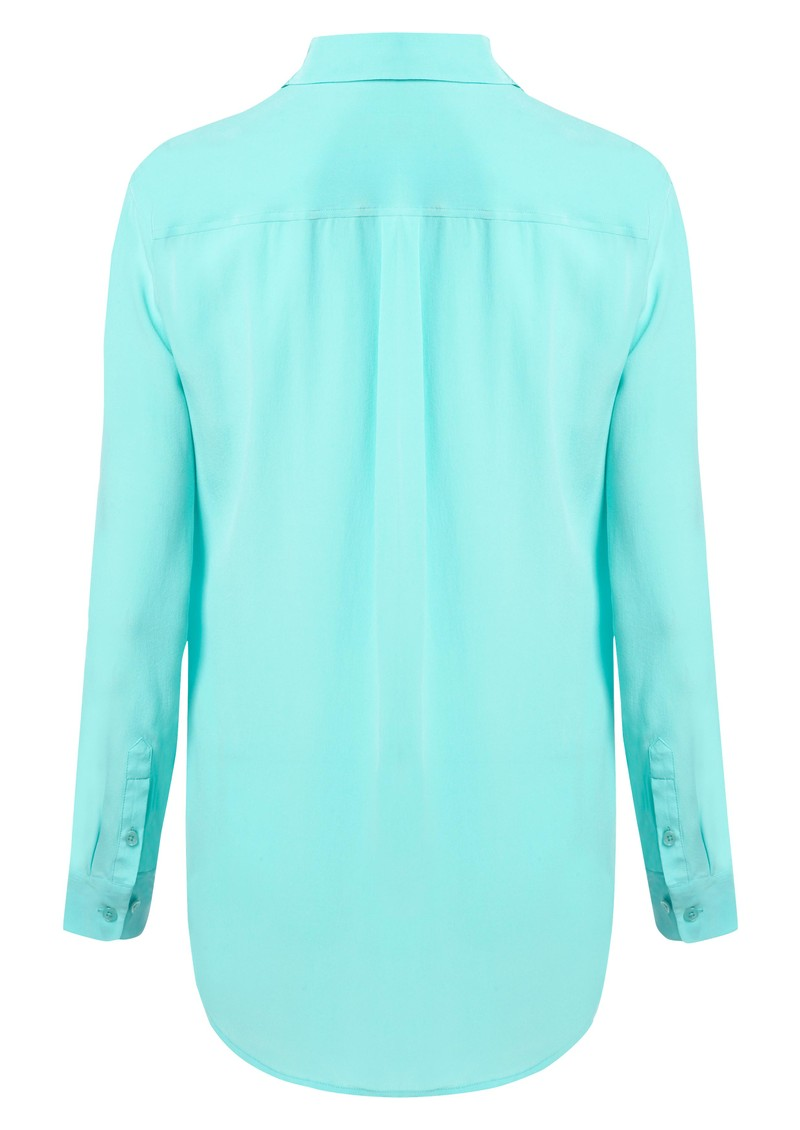 Signature Silk Shirt - Pool Blue main image