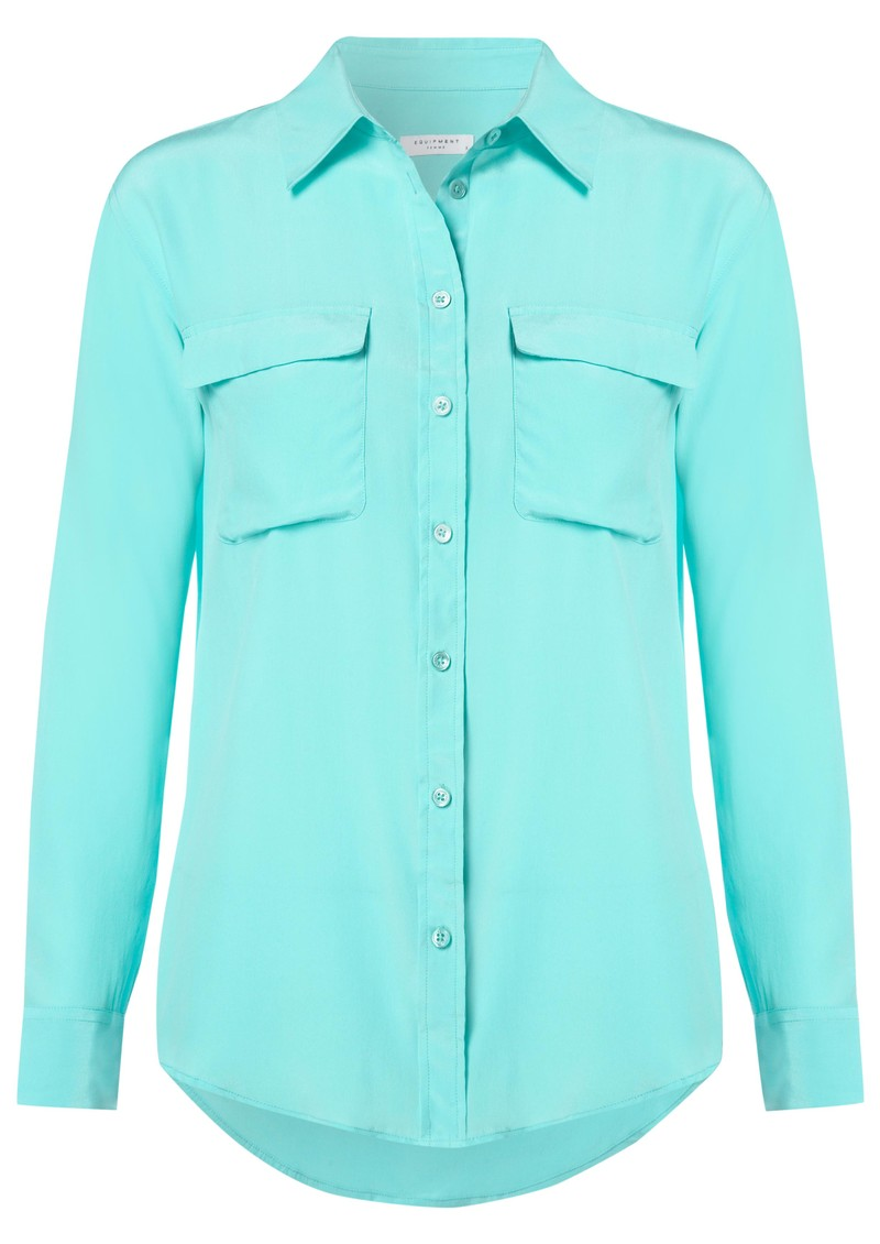 Equipment Signature Silk Shirt - Pool Blue main image