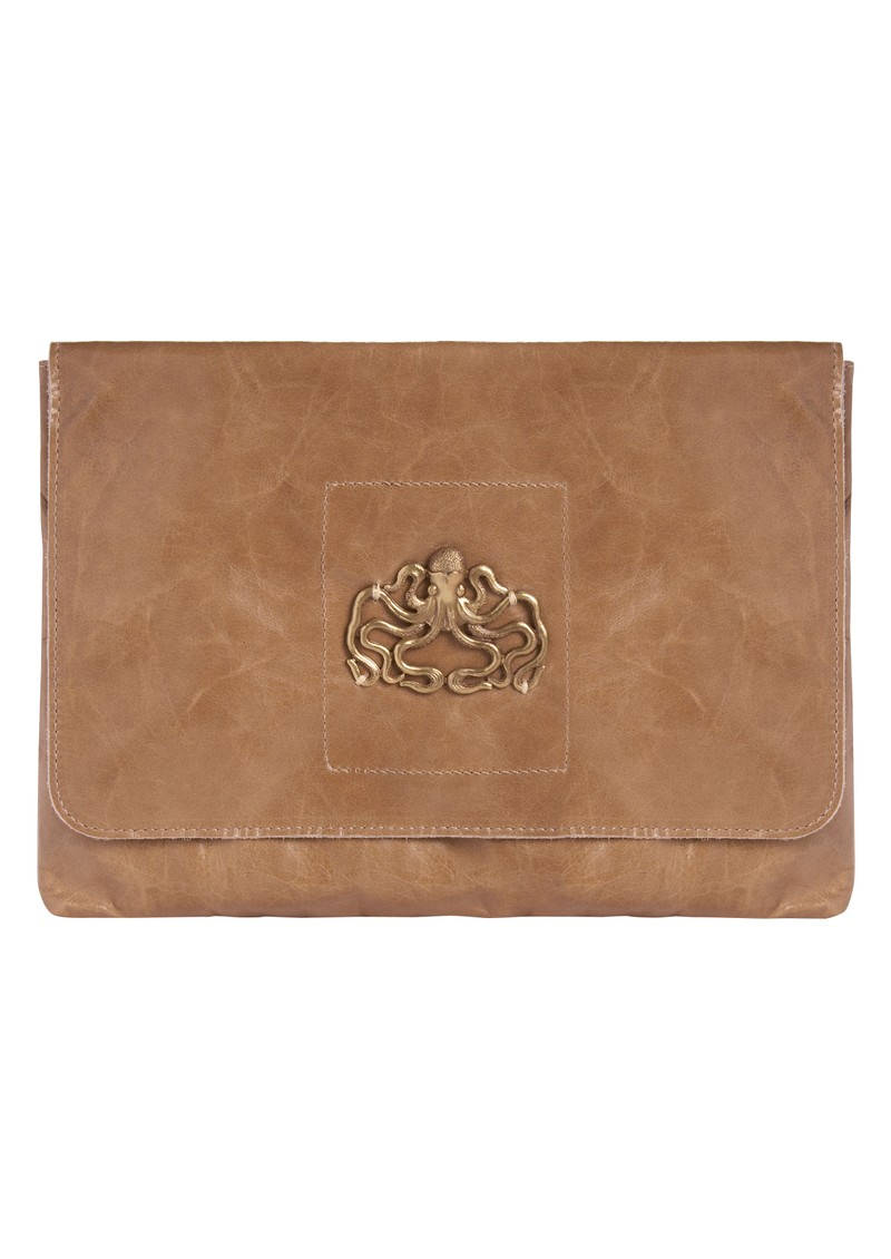 Esperanza Hand Bag with Octopus - Taupe main image