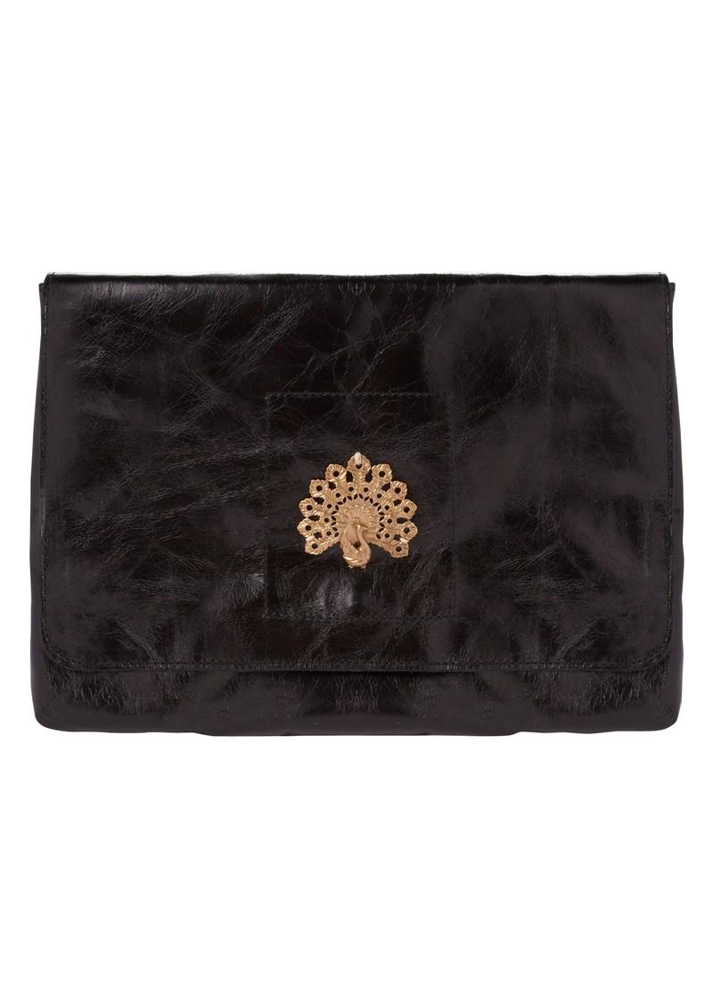 Sous Les Paves Esperanza Handbag with Peacock - Black main image
