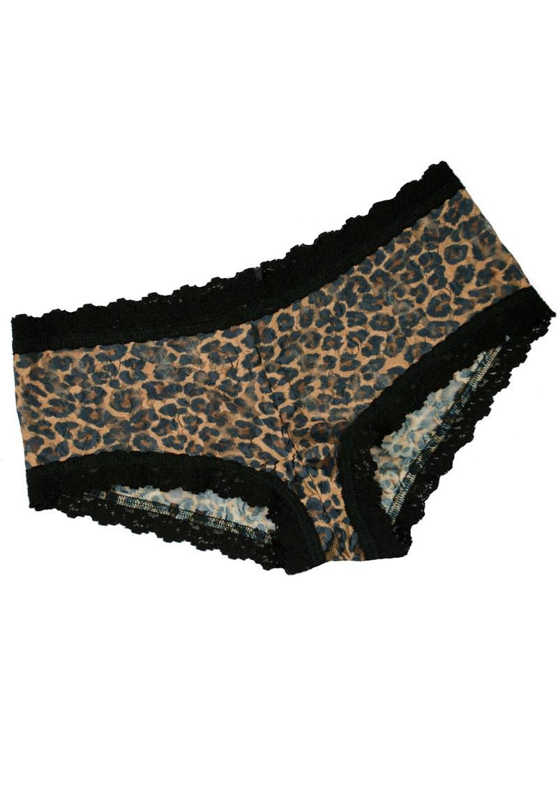 Hanky Panky Lace Boy Shorts - Leopard main image