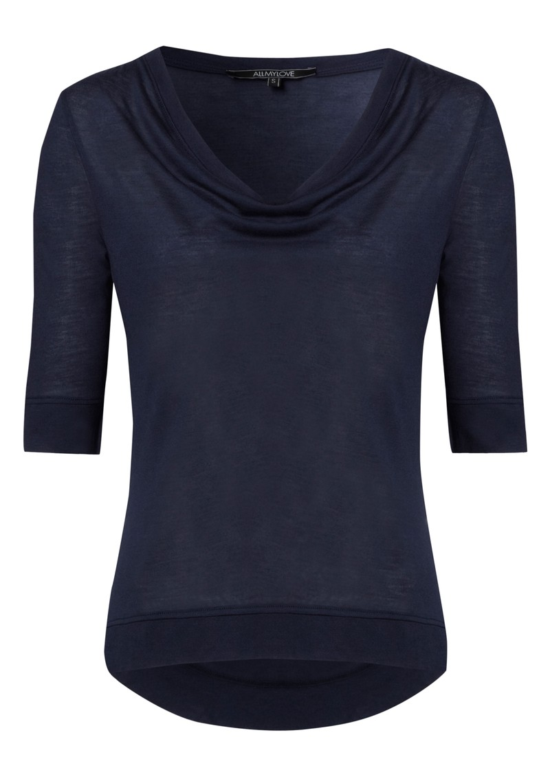 All My Love Kate Cashmere Mix Tee - Navy main image