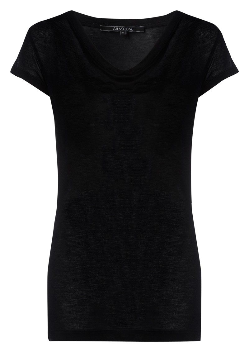 All My Love Verity Cashmere Mix Tee - Black main image