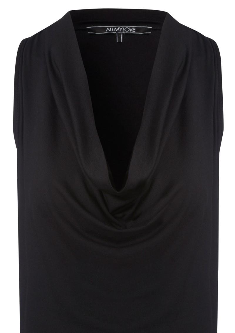 All My Love Annabel Cashmere Mix Vest Dress - Black main image