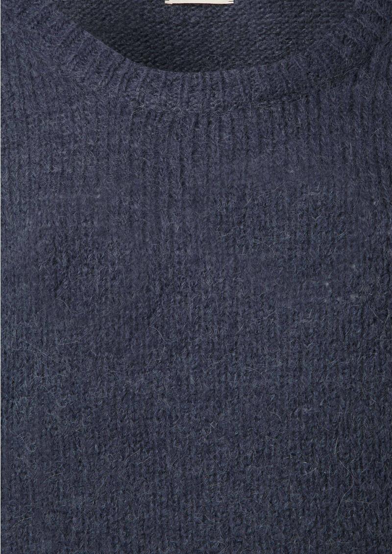 American Vintage South Knit Wool Mix Jumper - Petrol main image
