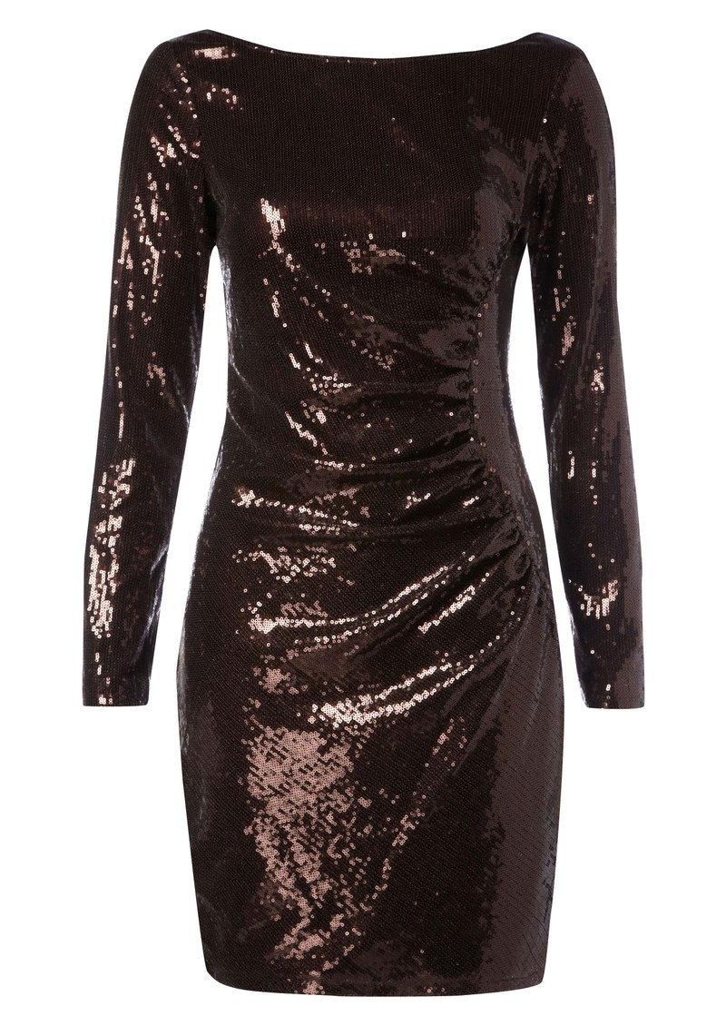 Hale Bob Sequin Dress - Brown main image