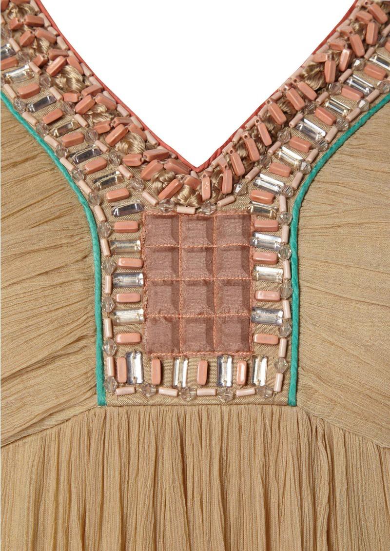 Blank Teodora Maxi Dress - Camel main image