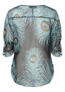 Hale Bob Feather Silk Blouse - Multi