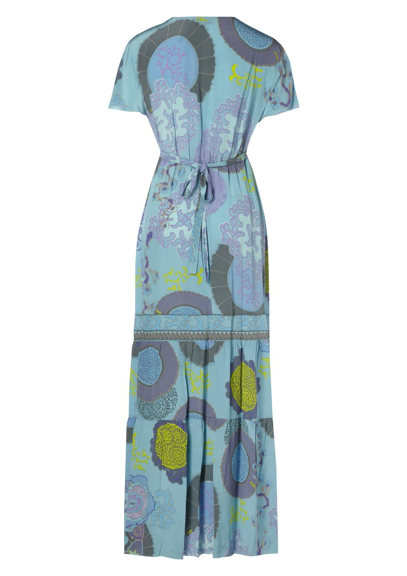 Hale Bob Maxi Silk Dress - Blue main image