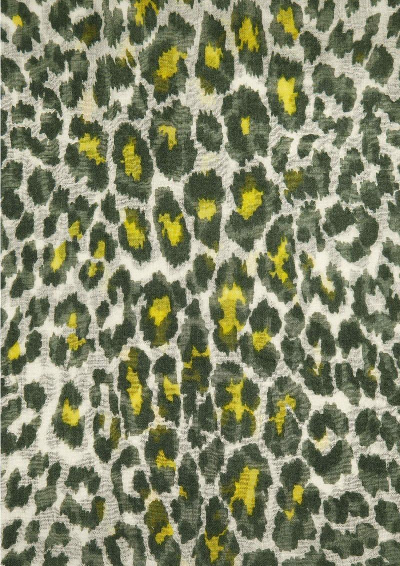 Mercy Delta Safari Wool & Silk Mix Scarf - Moss main image