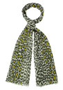 Mercy Delta Safari Wool & Silk Mix Scarf - Moss