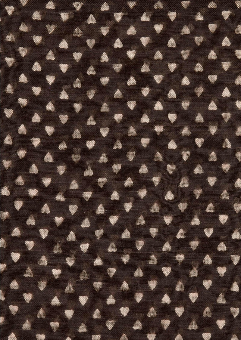 Becksondergaard Lovely Hearts Silk Mix Scarf - Brown main image