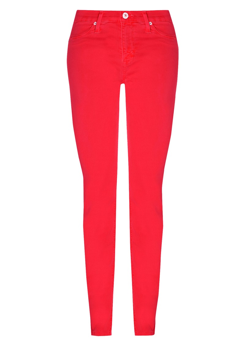 Hudson Jeans Nico Mid Rise Super Skinny Jeans - Cherry Red main image