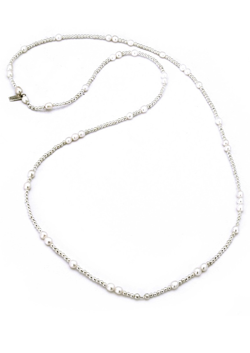 ChloBo Oystins Random Silver & Freshwater Pearl Necklace Length 2 main image