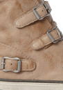 Ash Virgin Leather Buckle Trainers  - Clay