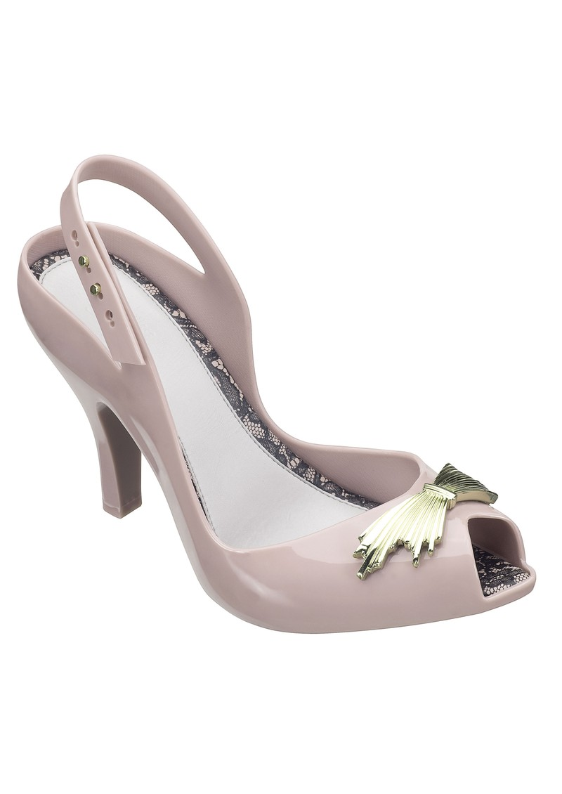 Melissa Jason Wu Lady Dragon Heels - Putty main image