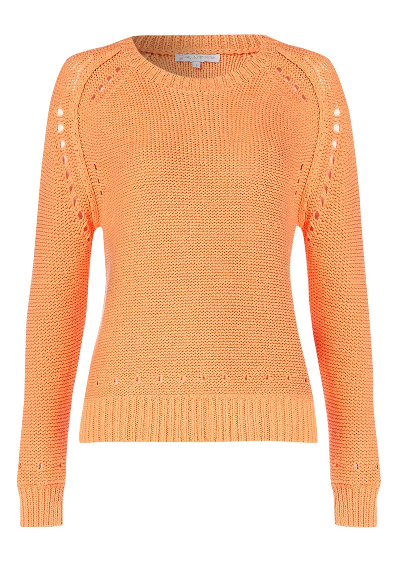 Paul and Joe Sister Laurel Knitted Jumper - Apricot main image