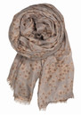 Ink Dots Silk Blend Scarf - Mauve additional image