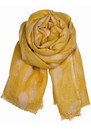 Broken Heaven Silk & Wool Mix Scarf - Curry additional image