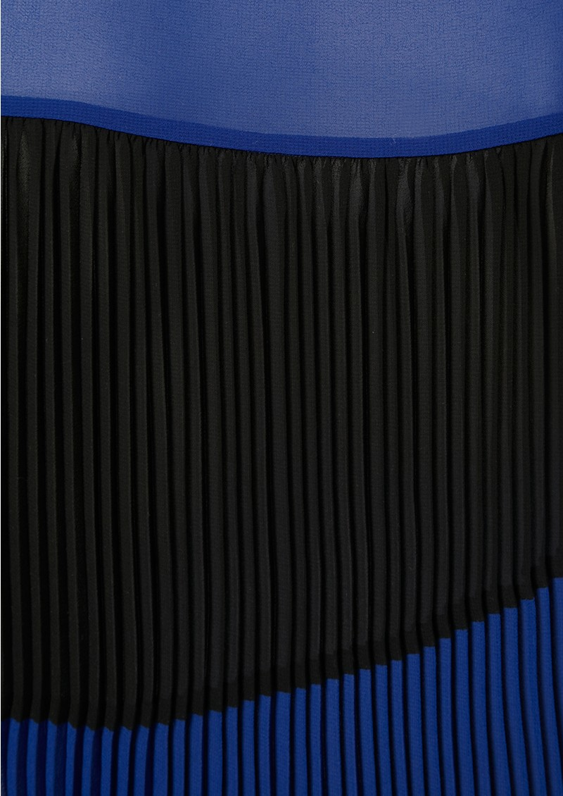 American Retro Plisse Blouse - Blue main image