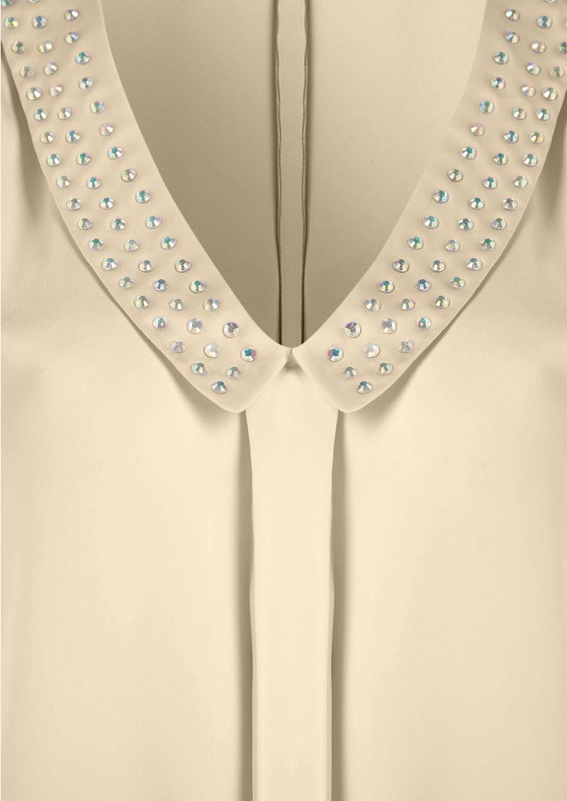American Retro Diamond Blouse - Nude main image