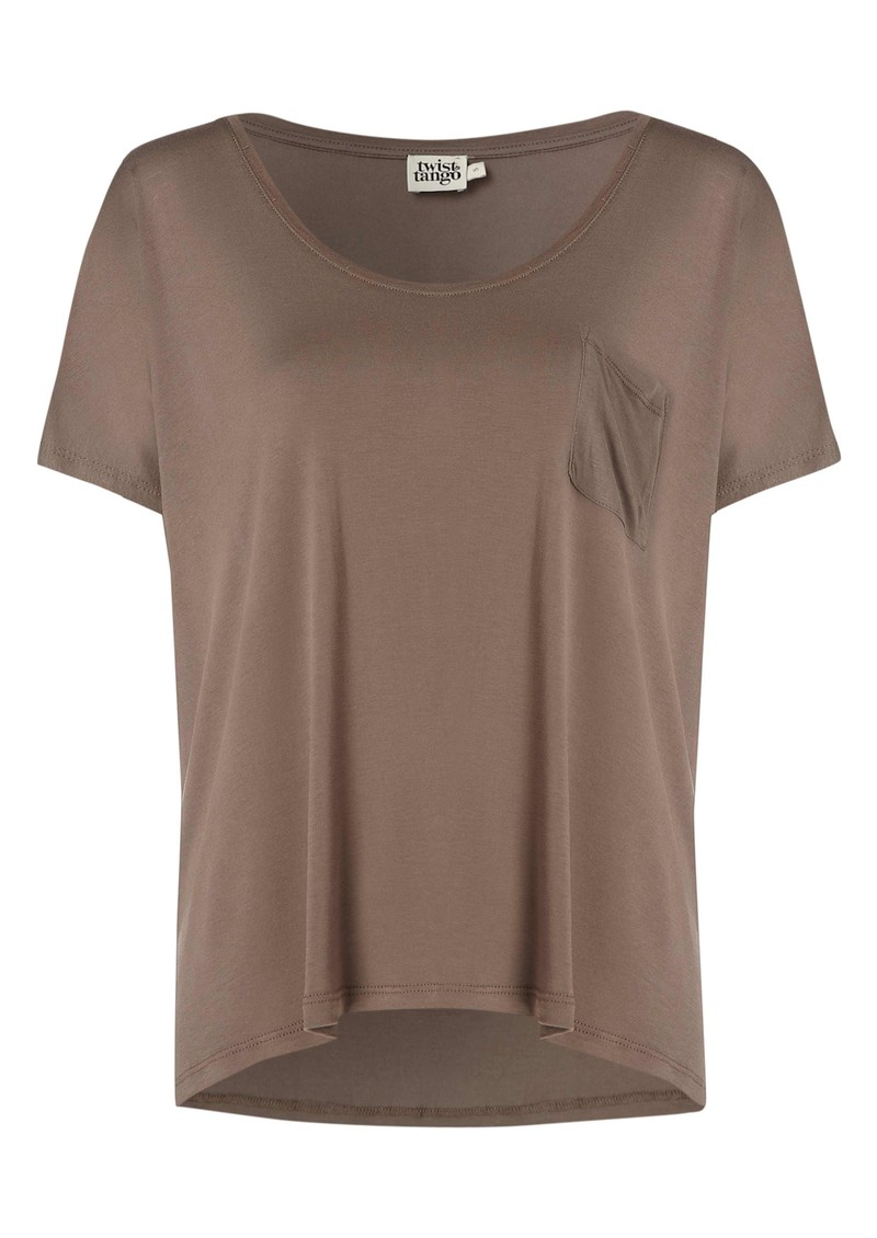 Twist and Tango Cherry Jersey Tee - Oyster main image