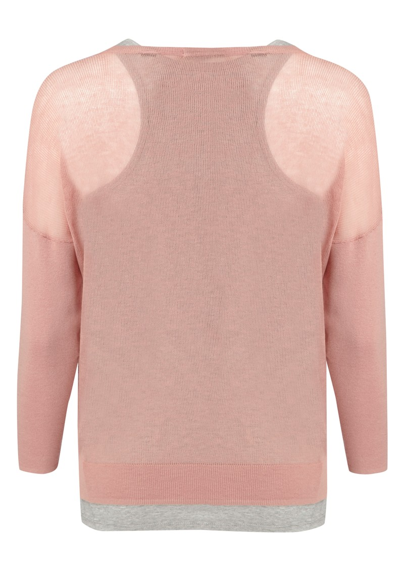 Maison Scotch 2 In 1 Knit Jumper - Blossom & Grey main image