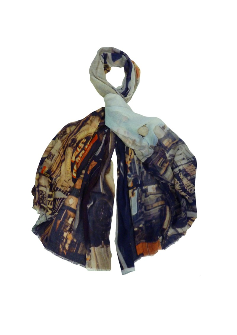 Lily and Lionel 1950's Piccadilly Print Scarf - Multi main image