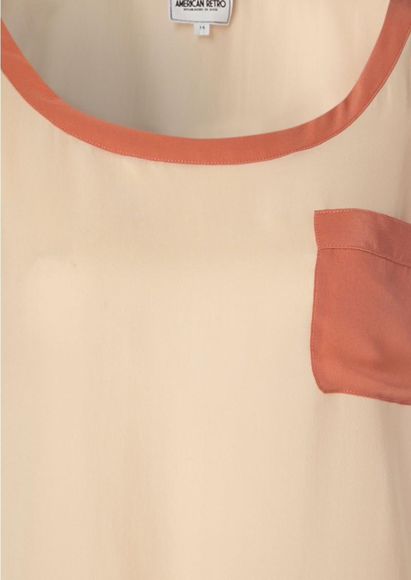 American Retro Mummy Silk Tee - Peach main image