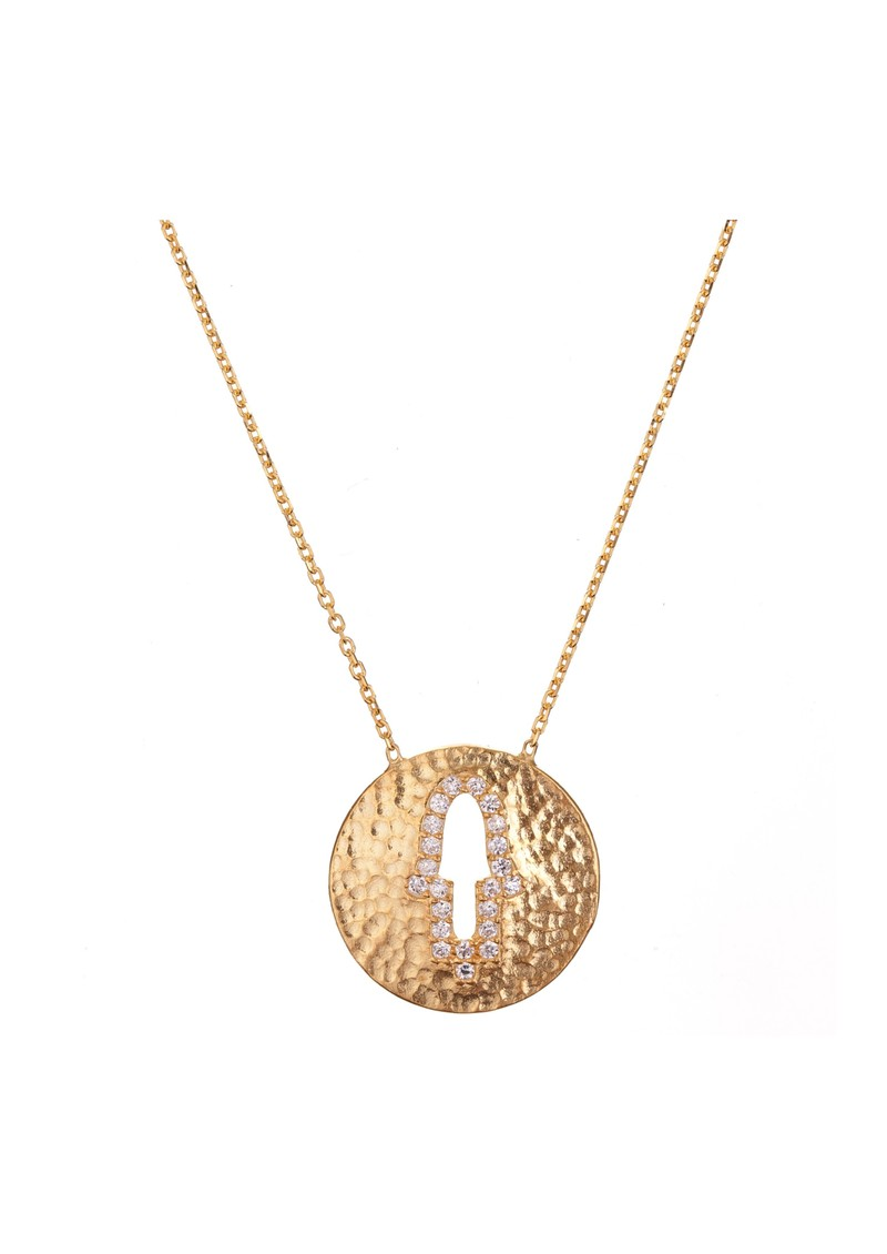 Ingenious Hamsa Cut Out Necklace - Gold main image