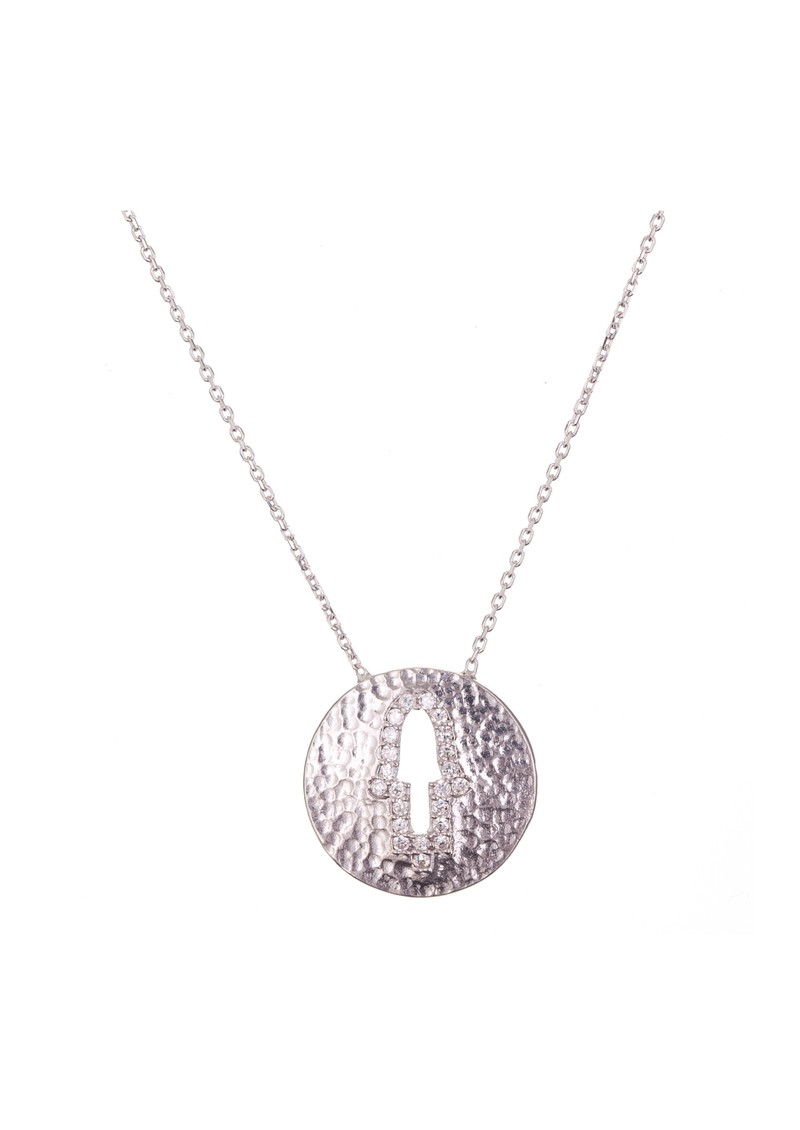 Ingenious Hamsa Cut Out Necklace - Silver main image