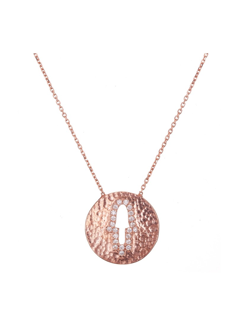 Ingenious Hamsa Cut Out Necklace - Rose Gold main image