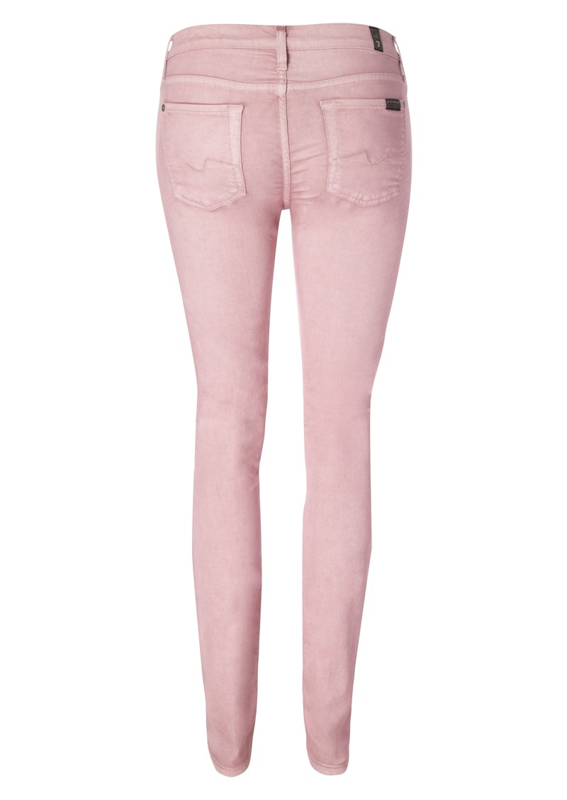 7 For All Mankind The Skinny Second Skin Legging  - Drill main image