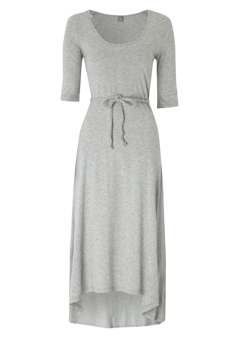 Jersey Belted Maxi Dress - Heather Grey main image