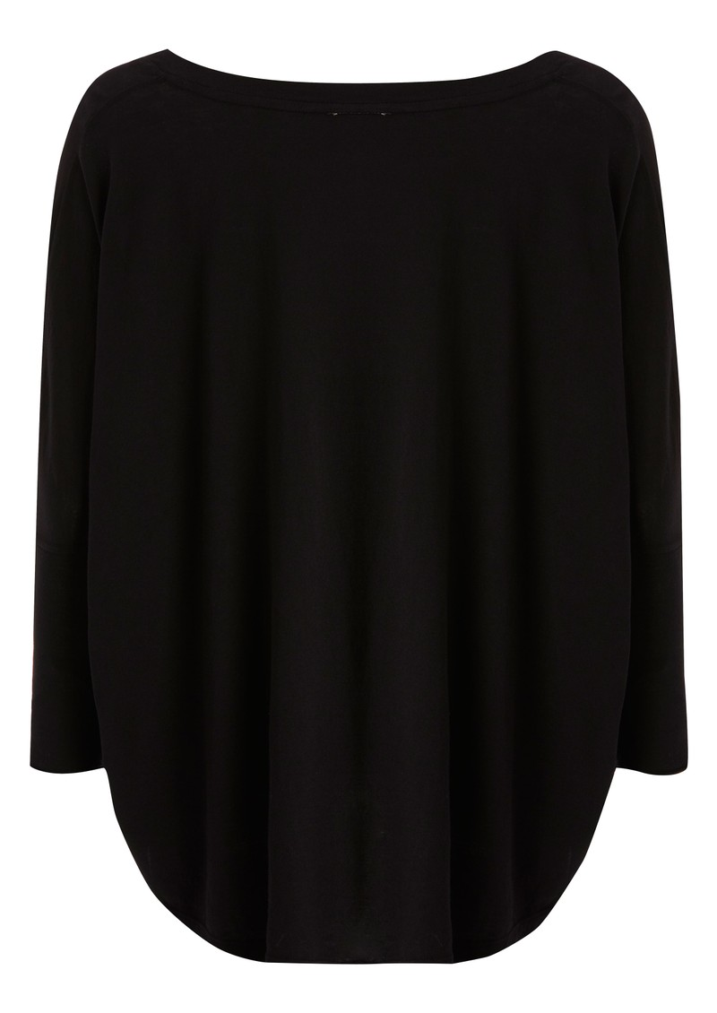 Bobi Jersey Circle Top - Black main image