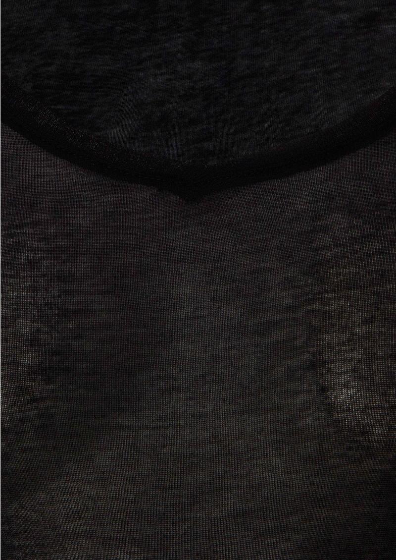 American Vintage Massachussets 3/4 Sleeve Tee - Black main image