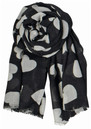Supersize Heart Scarf - Black additional image